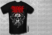 SUICIDAL ANGELS - skull T-Shirt