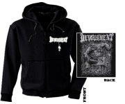 DEVOURMENT - crush with barbarity pocket Zip Hoodie  XL