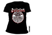 DESTRUCTION  - pentagram skulls Girlie Shirt  S