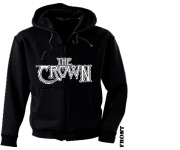CROWN, THE - white logo Zip Hoodie