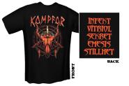 KAMPFAR - red skull T-Shirt  XL