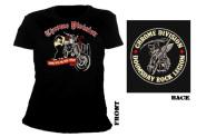 CHROME DIVISION - riding the devil girl Girlie Shirt