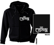 CROWN, THE - pocket white logo Zip Hoodie