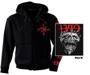 1349 - chaos skull Zip Hoodie