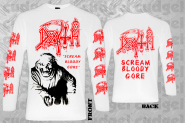 DEATH - scream bloody gore Longsleeve Shirt