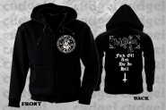 THE BLACK - fuck off Zip Hoodie