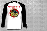 IRON MAIDEN - piece of mind Raglan Longseeve T-Shirt