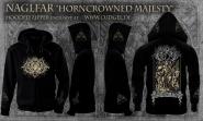 NAGLFAR - horncrowned majesty Zip Hoodie  L