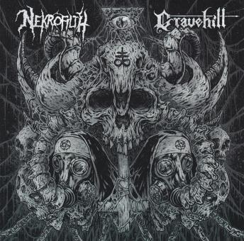 "NEKROFILTH / GRAVEHILL - split 7"""