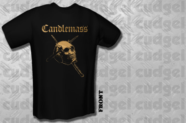 CANDLEMASS - gold skull T-Shirt