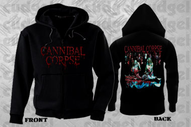 CANNIBAL CORPSE - albumcover bab Hooded Zipper