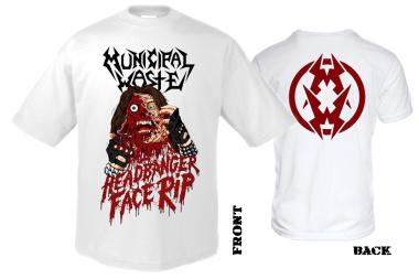MUNICIPAL WASTE - headbanger face T-Shirt