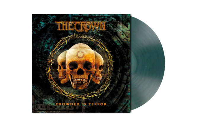 CROWN, THE - crowned in terror LP clear teal