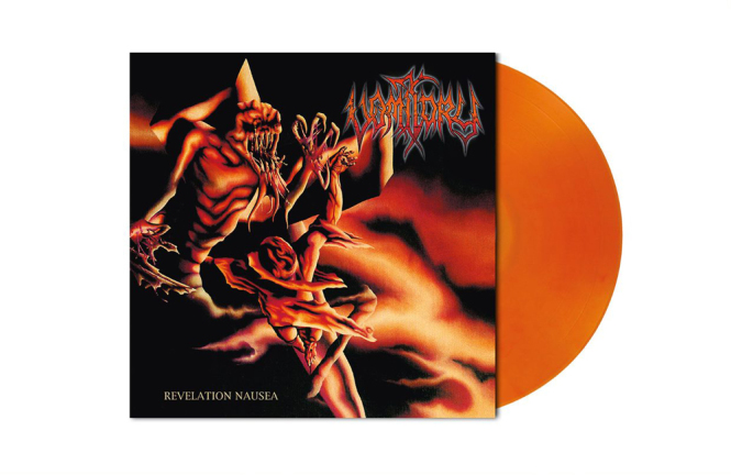VOMITORY - revelation nausea LP orange red marbled