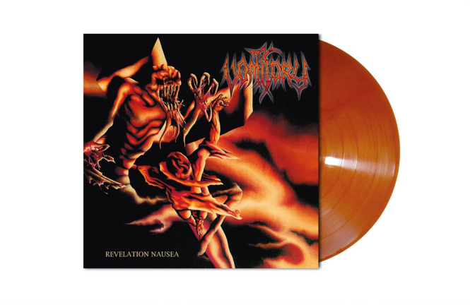 VOMITORY - revelation nausea LP orange brown marbled