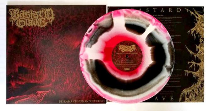 BASTARD GRAVE - diorama of human suffering LP red bone black