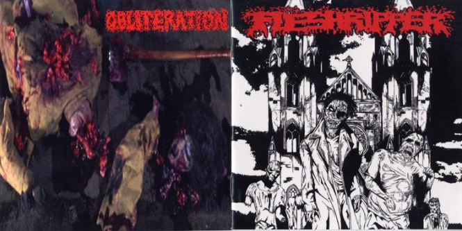 FLESHRIPPER / OBLITERATION - split CD