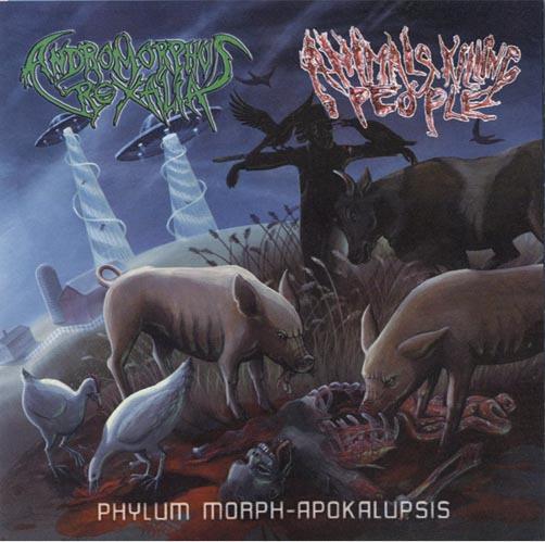 ANIMALS KILLING PEOPLE / ANDROMORPHUS REXALIA - split CD