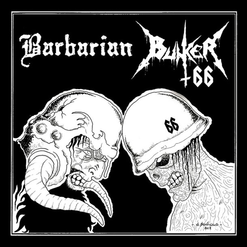 BUNKER 66 / BARBARIAN - split CD