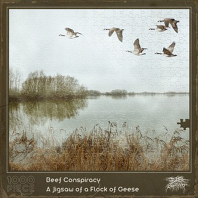 BEEF CONSPIRACY - a jigsaw of a flock of geese CD
