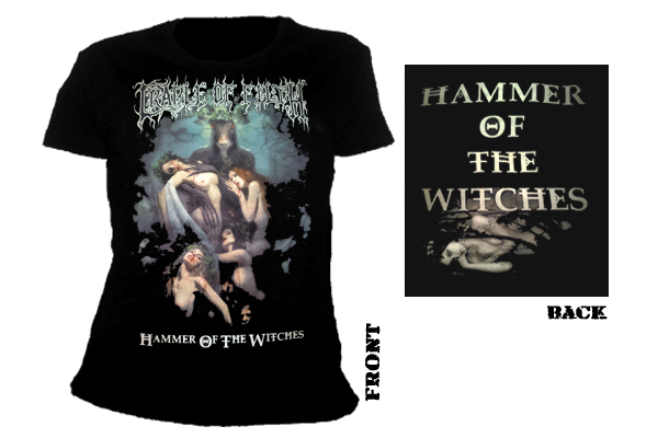 CRADLE OF FILTH - hammer of the witches Girlie Shirt