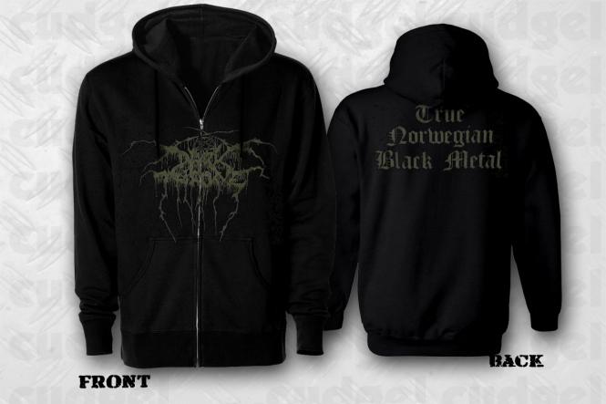 cudgel | DARKTHRONE - true norwegian black metal Zip Hoodie