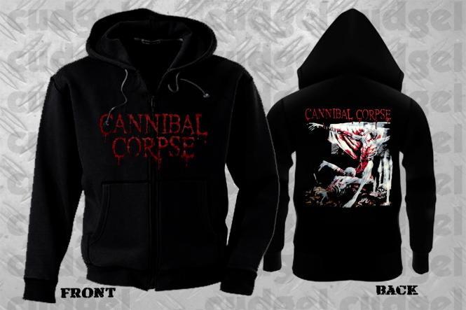 CANNIBAL CORPSE - albumcover tomb Hooded Zipper