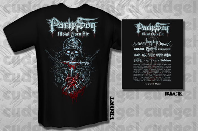 PARTY.SAN OPEN AIR 2017 - three crosses T-Shirt  XL