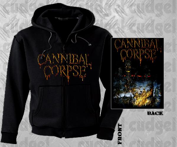 CANNIBAL CORPSE - skeletal domain Hooded Zipper
