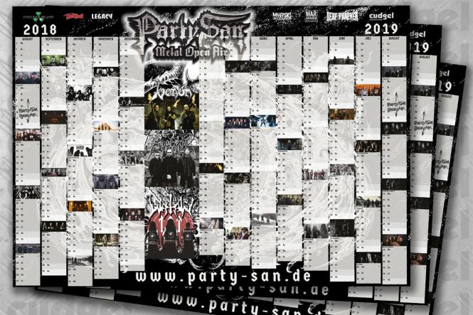 PARTY.SAN OPEN AIR - Kalender / Poster