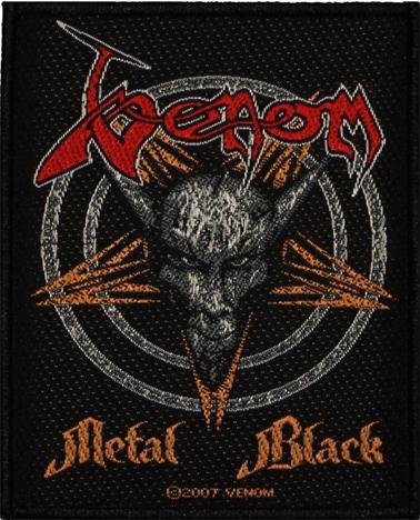 VENOM - metal black PATCH