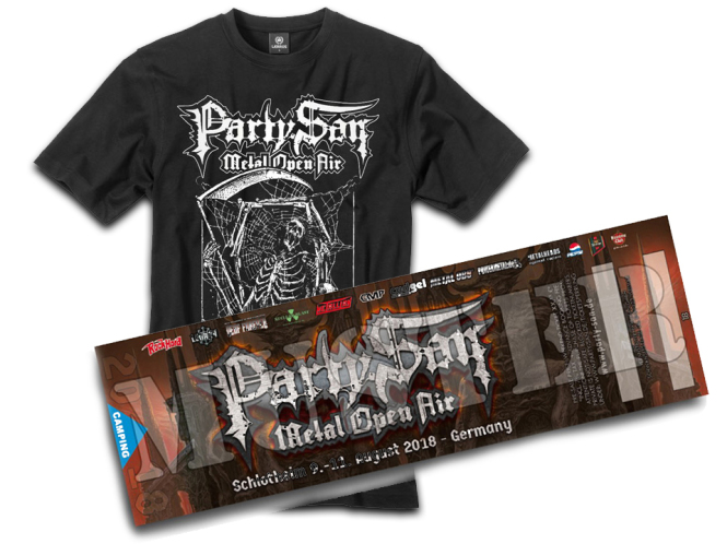3 Tage Ticket PARTY.SAN OPEN AIR 2018 + T-Shirt