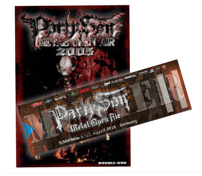 3 Tage Ticket PARTY.SAN OPEN AIR 2018 + DVD 2005
