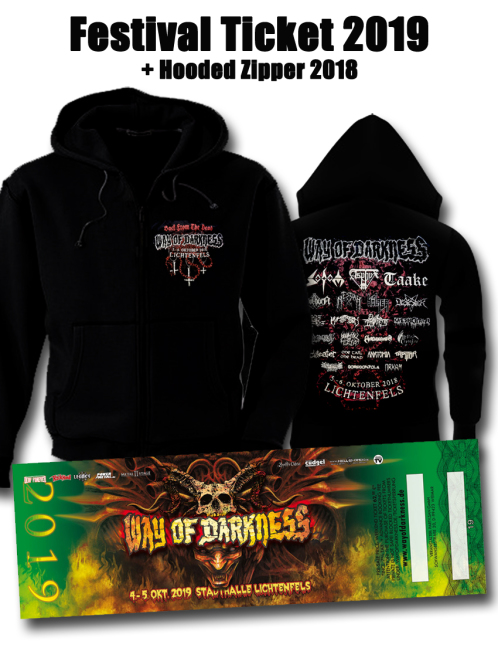 WAY OF DARKNESS 2019 2 Tage Ticket + Hooded Zipper