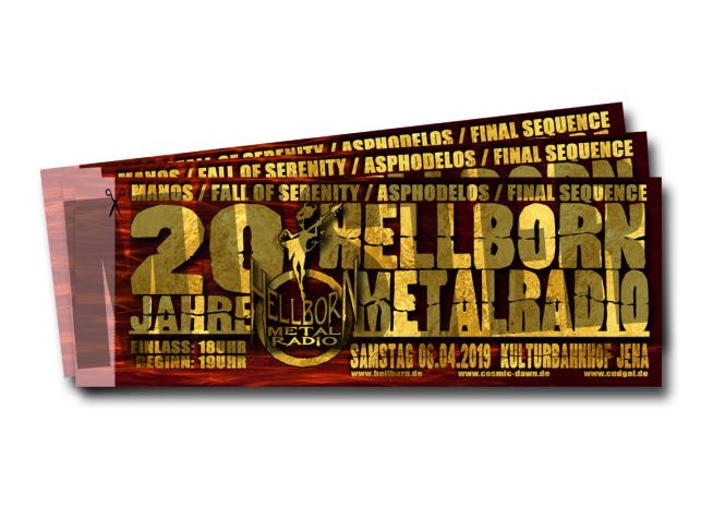 HELLBORN METALRADIO 20 JAHRE -  Ticket