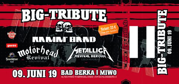 BIG TRIBUTE 9.6.19 Bad Berka  -  Ticket