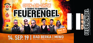 Feuerengel 14.09.2019 Bad Berka/ MIWO  -  Ticket